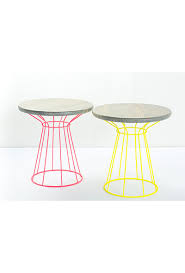 Wire Side Table Neon Wire Side Table Reserve Modern Event Rentals
