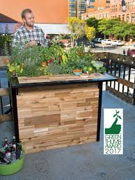 reclaimed wood small outdoor bar planter patio plant a bar 2 u0027x4 u0027
