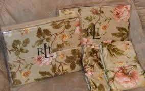 Ralph Lauren Floral Bedding Ralph Lauren Yorkshire Rose Floral Queen Sheet Set New Green Pink