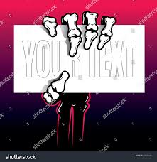 Business Card Credit Skeleton Hand Arm Holding Business Card Stock Vector 426701830