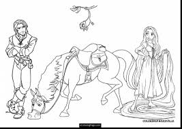 incredible tangled coloring pages with chameleon coloring page