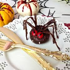 video halloween doughnut hole eyeballs on a fork lindsay ann bakes