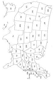 United States Map With State Names Printable by List Of State Name Abbreviations