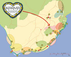 Port Elizabeth South Africa Map by Backpackers Route Planner South Africa