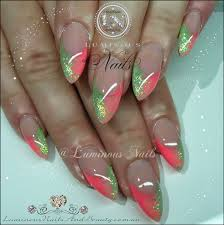 glitter acrylic nail designs pictures luminous nails september