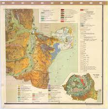 Map Of Romania Harta Pedologica A Republicii Socialiste Romania 6 Soil Map Of