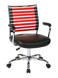 Office Star Leather Chair Amazon Com Office Star Ave Six Randal Bungee Strap Back Office