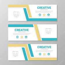 layout banner design orange and blue corporate business banner template horizontal