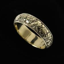 leaf wedding band fig leaf wedding ring bands silver and gold handmade bowman