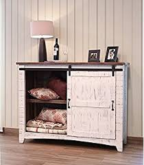 barn door side table amazon com anton quality solid wood distressed white end table with
