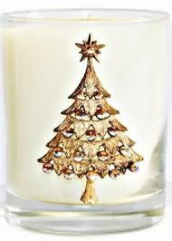 tree swarovski embellished glass 8 oz scented