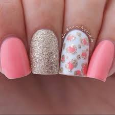 50 best nail art designs from instagram pink gold nails gold