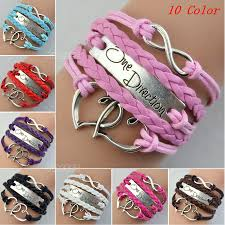 bracelet charms ebay images One direction love heart hand knitted leather charms chain jpg