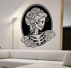 best baby animal wall stickers products on wanelo decal bird cages popular items for skull wall decal on etsy day of the dead girl vinyl sticker art