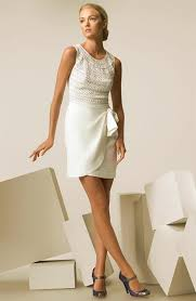 casual style wedding dress knitted top and wrap skirt styles of