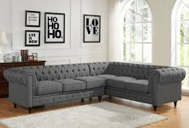 grey linen chesterfield sectional