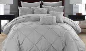 Ruffled Bed Set Up To 78 On Ruffled Comforter Set And Sheets Groupon Goods