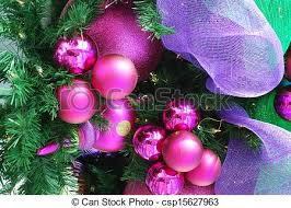 stock image of fuschia ornaments a cluster of fuschia