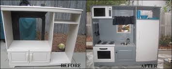 diy play kitchen ideas diy play kitchen from entertainment center things we