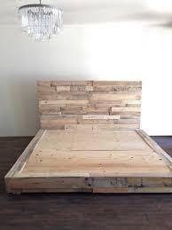 Platform Bed Pallet Reclaimed Wood Platform Bed Base Pallet Natural Twin Full Queen