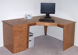 Corner Pc Desk Pc Corner Desk With Shelves Excellent Choice For A Small Room