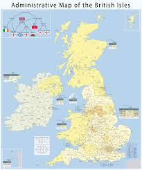 administrative geography of the british isles with postcode areas