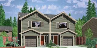house plans narrow lot narrow lot duplex house plans 2 bedroom duplex house plan d 503