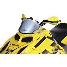 powermadd cobra 11 in low chrome windshield 13020 snowmobile