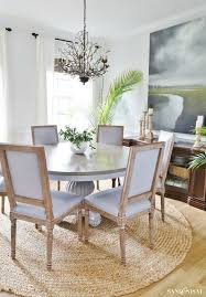 driftwood refinished veneer tabletop sand and sisal coastal dining room with driftwood finish table