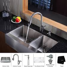 Kitchen Sink Faucet With Pull Out Spray by Stainless Steel Kitchen Sink Combination Kraususa Com