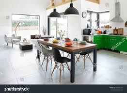 Modern Dining Rooms Modern Dining Room Dining Table Scandinavian Stock Photo 456702253