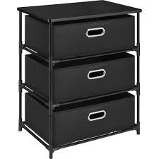 ameriwood home sidney 3 bin storage end table black walmart com