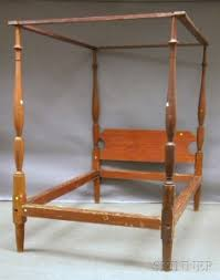 antique canopy bed search all lots skinner auctioneers