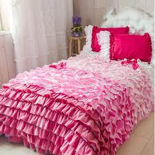 european luxury cake layers bedding set rainbow ruffle duvet cover
