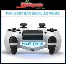ps4 controller white light ps4 white controller light bar decal 2x custom personalised vinyl