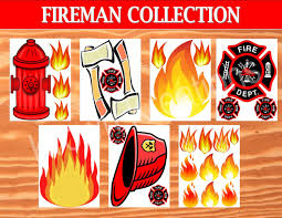 fireman birthday fire fighter photo props fireman party fire