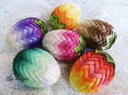 egg decorations ombre easter egg decoration quilted ornaments ornament egg