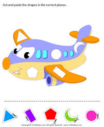 kindergarten art and craft activities cut and paste shapes