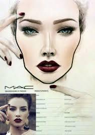 halloween makeup mac copy the look face chart by amalia bot mac make up portfolio