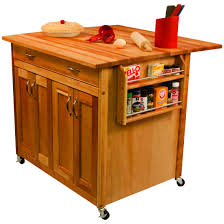 furniture movable kitchen island with shelves and silver handle