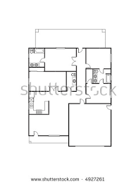 single family floor house plan stock images royalty free images