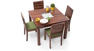 dining table set 4 seater brighton square oribi 4 seater dining table set urban ladder