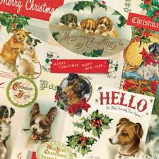 corgi wrapping paper christmas dogs wrapping paper vintage ephemera gift wrap