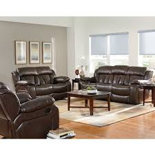 Faux Leather Recliner 40 03 39 1 Brown Faux Leather Reclining Sofa