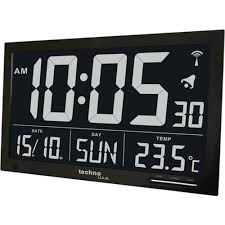 technoline ws8007 extra large black digital weather clock amazon