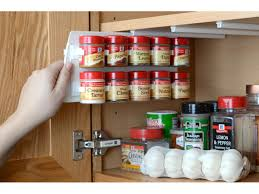 Rubbermaid Spice Rack Pull Down Kitchen Sliding Spice Rack For Nice Kitchen Cabinet Design