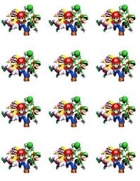 mario cake toppers 24 mario cupcake toppers ca home kitchen