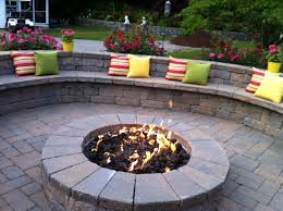 Sand For Backyard Firepit With Water Feature For Patios Patio Fire Pits Patio And