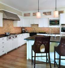 brick tile backsplash kitchen kitchen herringbone kitchen with