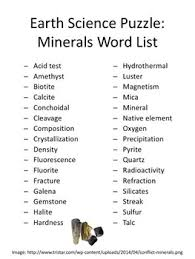 earth science puzzles minerals by mr mcneely teachers pay teachers